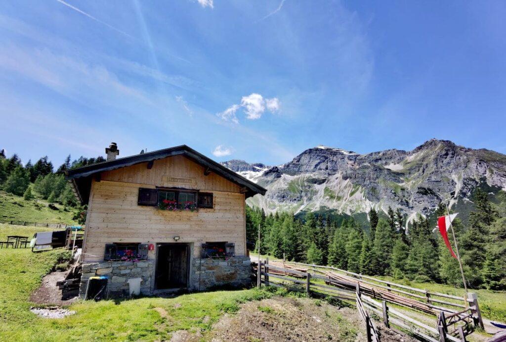 Die Steineralm, 40 Minuten Wanderung vom Obernberger See